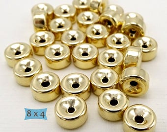 Simple Gold Filled Rondelle Spacers--1 Pc | 27-CM306-1
