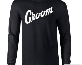 Groom Shirt / Groom T-Shirt / Groom Wedding Shirt / Groom Long-sleeve Shirt / Groom T-shirt / 334
