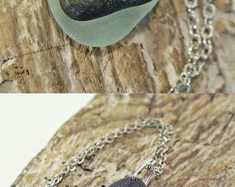 Heart Beach Stone Necklace - Beach Stone Jewelry - Sea Glass Necklace - Beach Jewelry