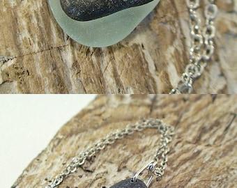 Heart Beach Stone Necklace - Beach Stone Jewelry - Sea Glass Necklace - Beach Jewelry