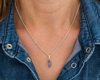 Sapphire Necklace Sterling Silver - Swarovski Sapphire Necklace - Swarovski Sapphire Jewelry -  September Birthstone Jewelry Jewellery   A49