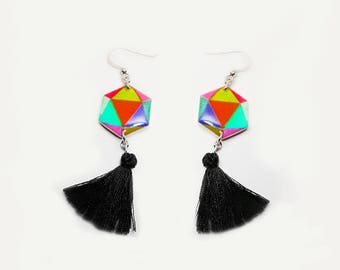 Geometric shape Dangle Earrings Geometric shape Drop earrings Geometric shape Gift for her