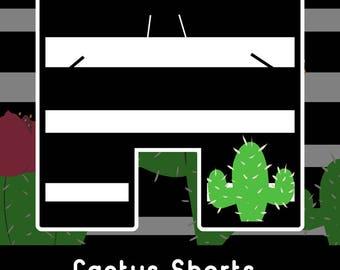 Striped Cactus Basketball Shorts