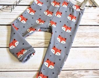 Baby organic leggings, Baby fox leggings, Toddler fox leggings, Fox leggings, Baby boy leggings, Organic leggings Preemies to 5 years old