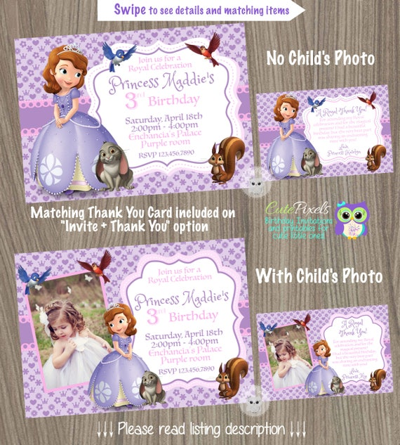 Sofia the first invitation princess sofia invitation princess il570xn stopboris Image collections