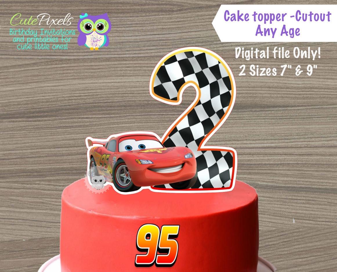 Disney Cars Birthday Cake: Cars Cake Topper Cars Centerpiece Disney Cars Birthday