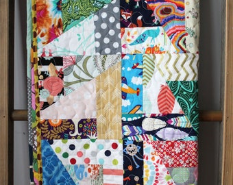 I Spy Quilt- Colorful Baby Quilt- Unique Baby Quilt- Homemade Baby Quilt- One of a kind Quilt- Scrap Baby Quilt- Best Baby Gift Ever