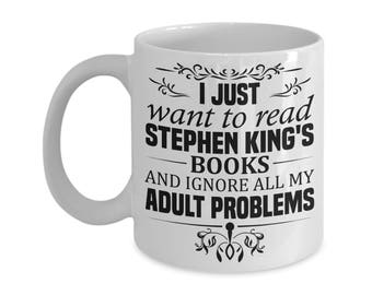 Gifts For Readers, Book Lover Gift Idea, Librarian Gift, Bookworm Gift, Stephen King, Love Reading, Book Lover Gift Idea, Literary gift