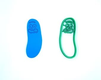 Pickle Rick Cookie Cutter - 3D Printed - Rick and Morty Cookie Cutter- Bakery Cookie Cutter - Clay Cutter - Fondant Cutter - FunOrders