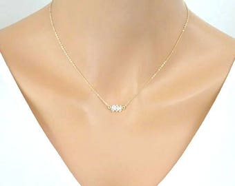 Herkimer Diamond Necklace, Simple Crystal Necklace, April Birthstone necklace, Zodiac Jewelry, Christmas gift for her