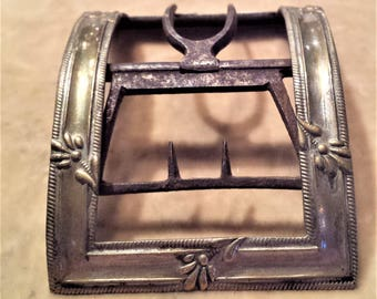 Silver and Brass Shoe Buckle