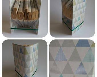 John bookfolding pattern, name, man, for him, mmf