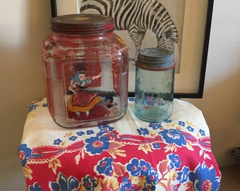Hand painted vintage cookie jar