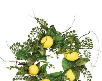 """Lemon Foliage Candle Ring, 6"""" Opening"""