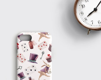 Alice in Wonderland iPhone Case, Alice iPhone 6 Plus Case - iPhone 6S Case iPhone Cover White Rabbit iPhone X Case Mad Hatter iPhone 7 Case
