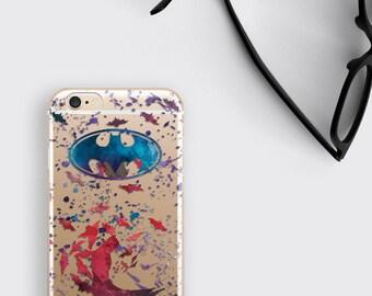 Batman Phone Case Clear iPhone 7 Case - Bruce Wayne iPhone 6S plus Case Samsung Galaxy S6 Case Transparent iPhone Case iPhone 7 Plus Case