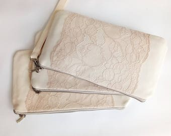 Braidsmaid clutch Set Wedding clutch Clutch purse Evening purse Braidsmaide wristlet Wedding purse Bridal clutch bag