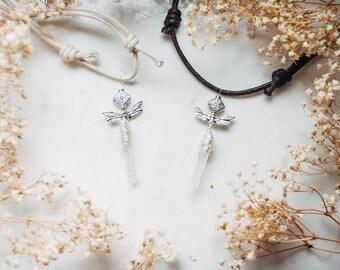Tiny Crystal Quartz Faery Necklace
