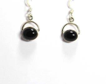 Black Onyx 925 Sterling Silver Earring Handmade Jewelry