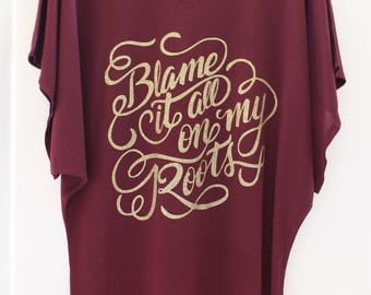 Garth Brooks Shirt - Country Top - Blame it all on my Roots - Country Concert Shirt - Southern - Rodeo - Cowgirl - Western Tee Shirt