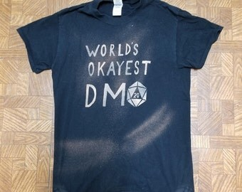 World's Okayest DM Bleached Shirt