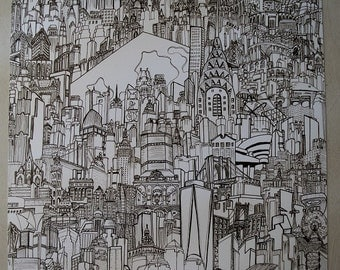 Timothy McVain's NEW YORK CITY (Black & White)