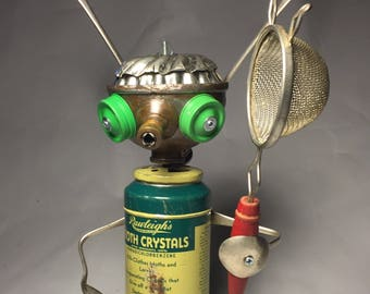 Bug Zapper - Assemblage Art Robot Sculpture
