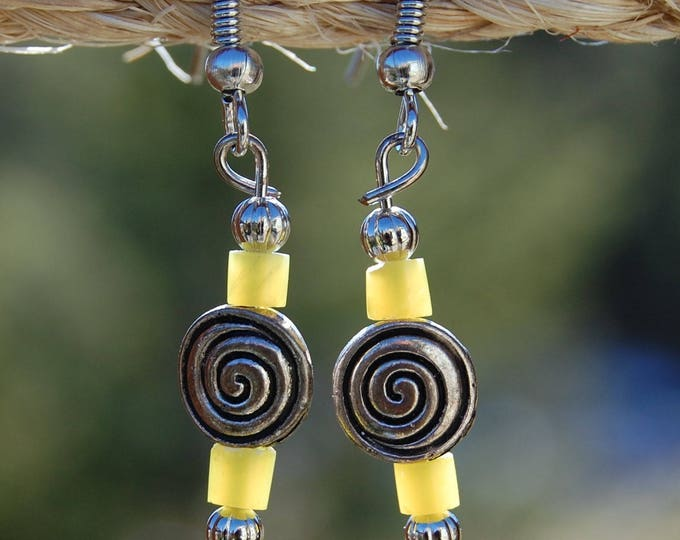 Delicate Swirl Dangle Earrings