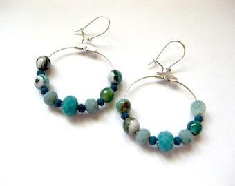 Earrings, Kreolenohrringe, pearl earrings, gifts for women,