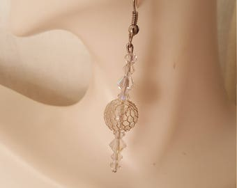 Crystal ball earrings (ER003)