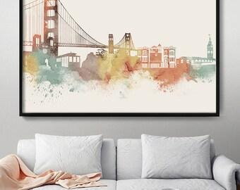 San Francisco Art San Francisco Wall Art City Prints City Art San