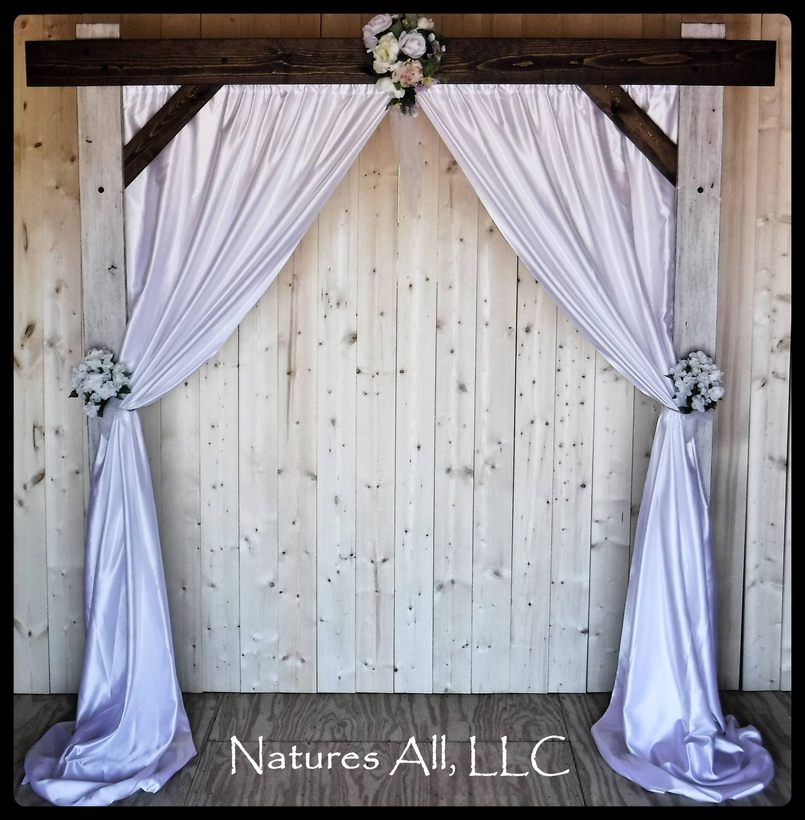 Wedding Arch Decorations Fabric: Wedding Arch And Fabric Backdrop/Wedding Arbor For