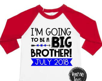I'm Going to be a Big Brother - Big Brother Shirts - Big Bro - Announcement Shirts - New Big Brother - Boys' Shirts - Personalized