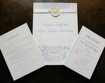 Melissa Cline | VIP Studio Reservation | Wedding Invitation Suite with Wax Seal Monogram
