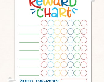 Superior Reward Chart / DIGITAL / Kids Reward Chart / Progress Chart / Reward  Printable / Behaviour  Progress Chart For Kids