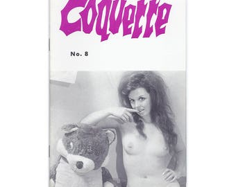 Coquette Magazine - 1960's Scandinavian Nudie Digest - All Nude Girls - No Text - Slick Pages - Vintage Erotica!