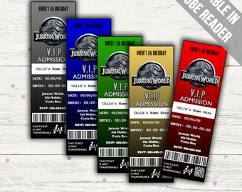 Jurassic World Invitations. Editable PDF. Instant Download.
