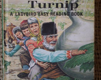 The Enormous Turnip. Well Loved Tales. A Vintage Ladybird Book. Series 606D