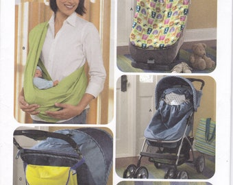 Free Us Ship Simplicity 3712 Baby Toddler  Accessories Swaddle Sling Stroller Car Seat Bunting Travel Changing Pad Uncut Like New