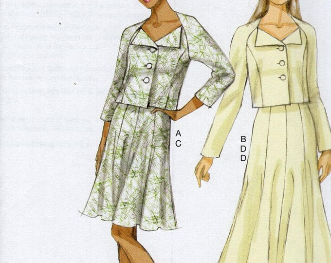 Free Us Ship Sewing Pattern Vogue 9013 Middy Button Jacket Gored Skirt Size 6 8 10 12 14 Bust 30 31 32 34 36 (Last size left)