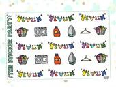 Laundry Planner Stickers | ERIN CONDREN