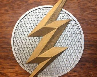 Flash Emblem/Badge Ezra Miller, Justice league. 3d Printed