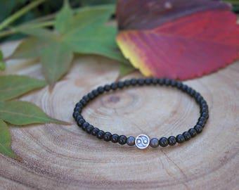 Men's Onyx Yin Yang Bracelet / Men's 4mm Bracelet / Men's 4mm Beaded Bracelet