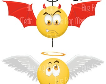 Angel and Devil - Vector EPS
