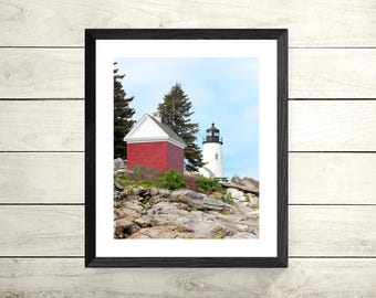 Pemaquid Lighthouse in Bristol, Maine | Lighthouse Photography Color Print | 11x14, 8x10 & 4x6 (Custom Sizes Available Upon Request)