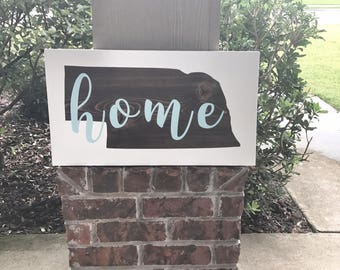 Home State Wood Sign / Custom Home State Wood Sign / Home State Sign / Wall Decor / Housewarming gift / Moving gift