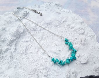 Necklace Mermaid, Turquoise Gems, Mermaid Jewelry, Natural colors, Positive Vibes, Fashionista, Trendy, Beach Jewelry, Made by TvA