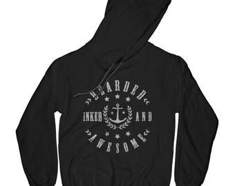 Sailor hoodie sea hoodie beard hoodie tattooed hoodie inked hoodie awesome hoodie husband gift brother present dad gift seaman gift    APV6
