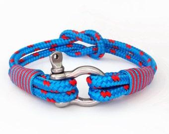Nautical bracelet/Sailor Bracelet/Bracciale nautico/mens anchor bracelet/paracord bracelet/Shackle Bracelet/Pulsera hombre