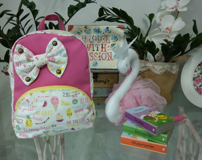 Baby School Pink Ice Cream Backpack